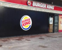 Palissade de chantier Vision de marques Burger King