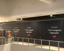 habillage de palissade de chantier H&M Vision de marques